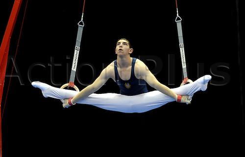 25/04/2010 European Gymnastics Championships .Junior Individual Apparatus Finals.VARDANYANVahan of Armenia on rings.