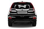 Straight rear view of 2015 Honda CR-V Elegance 5 Door SUV Rear View  stock images