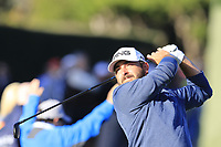 Stephan Jaeger (GER) during tees off the 4th tee Sunday's Final Round of the 2018 AT&amp;T Pebble Beach Pro-Am, held on Pebble Beach Golf Course, Monterey,  California, USA. 11th February 2018.<br /> Picture: Eoin Clarke | Golffile<br /> <br /> <br /> All photos usage must carry mandatory copyright credit (&copy; Golffile | Eoin Clarke)