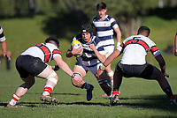 Action from the Hurricanes 1st XV premier rugby playoff between Scots College and Palmerston North Boys' High School at Porirua Park in Wellington, New Zealand on Saturday, 24 August 2019. Photo: Dave Lintott / lintottphoto.co.nz