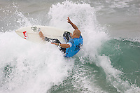 American Kelly Slater during the final day at the 2010 US Open of Surfing in Huntington Beach, California on August 6, 2010.
