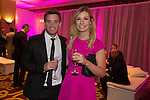 Gearing Hardy and Llinos Jones at the gala dinner.<br /> The Celebrity Cup 2015<br /> Celtic Manor Resort<br /> <br /> 04.07.15<br /> &copy;Steve Pope - SPORTINGWALES