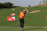 S.S.P Chawrasia (IND) on the driving range during the Preview of the Hero Indian Open at the DLF Golf and Country Club on Monday 5th March 2018.<br /> Picture:  Thos Caffrey / www.golffile.ie<br /> <br /> All photo usage must carry mandatory copyright credit (&copy; Golffile | Thos Caffrey)