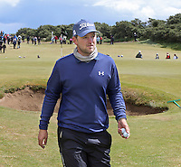 Friday 29th May 2015; Bernd Wiesberger, Austria, leaves the 9th green as clubhouse leader on -3<br /> <br /> Dubai Duty Free Irish Open Golf Championship 2015, Round 2 County Down Golf Club, Co. Down. Picture credit: John Dickson / SPORTSFILE