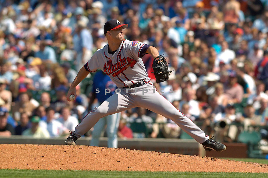 Tim Hudson, of the Atlanta Braves , during their game against the Chicago Cubs  on May 26, 2006 in Detroit...Braves win 6-5..David Durochik / SportPics