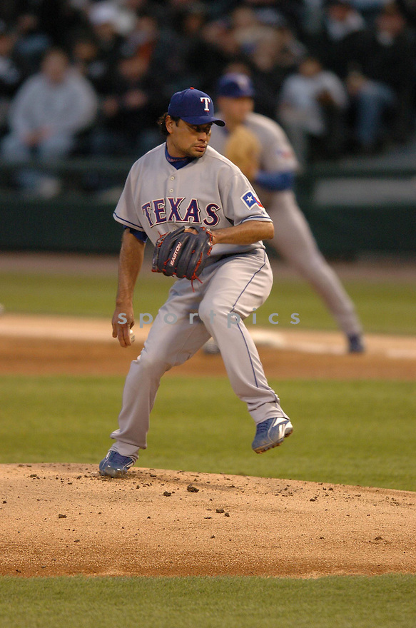VINCENTE PADILLA, of the Texas Rangers, in action during the Rangers game against the Chicago White Sox in Chicago, Illinois on April 19, 2007...WHITE SOX  win 6-4...CHRIS BERNACCHI/ SPORTPICS..