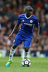 Ngolo Kante of Chelsea during the English Premier League match at Old Trafford Stadium, Manchester. Picture date: April 16th 2017. Pic credit should read: Simon Bellis/Sportimage