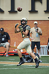 Wake Forest Demon Deacons wide receiver Davis Johnson (11) warms-up prior to the game against the Rice Owls at BB&T Field on September 29, 2018 in Winston-Salem, North Carolina. The Demon Deacons defeated the Owls 56-24. (Brian Westerholt/Sports On Film)