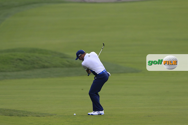 Sergio Garcia (ESP) plays his 2nd shot on the 2nd hole during Friday's Round 1 of the 2016 U.S. Open Championship held at Oakmont Country Club, Oakmont, Pittsburgh, Pennsylvania, United States of America. 17th June 2016.<br /> Picture: Eoin Clarke | Golffile<br /> <br /> <br /> All photos usage must carry mandatory copyright credit (&copy; Golffile | Eoin Clarke)