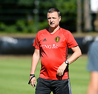 20170717 - RIJEN , NETHERLANDS :  Belgian head coach Ives Serneels pictured during a training session of the Belgian national women's soccer team Red Flames on the pitch of Rijen , on Tuesday 18 July 2017 in Rijen . The Red Flames are at the Women's European Championship 2017 in the Netherlands. PHOTO SPORTPIX.BE | DAVID CATRY