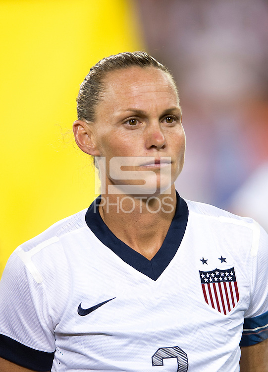 Christie Rampone. The USWNT defeated Mexico, 7-0, during an international friendly at RFK Stadium in Washington, DC.  The USWNT defeated Mexico, 7-0.