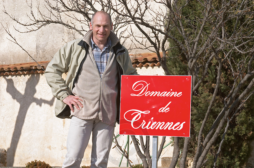 Remy Laugier, manager and winemaker Domaine de Triennes Nans-les-Pins Var Cote d'Azur France