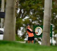 Pernilla Lindberg, of Sweden, plays her shot from the 14th tee during the third round of the ANA Inspiration at the Mission Hills Country Club in Palm Desert, California, USA. 3/31/18.<br /> <br /> Picture: Golffile | Bruce Sherwood<br /> <br /> <br /> All photo usage must carry mandatory copyright credit (&copy; Golffile | Bruce Sherwood)during the second round of the ANA Inspiration at the Mission Hills Country Club in Palm Desert, California, USA. 3/31/18.<br /> <br /> Picture: Golffile | Bruce Sherwood<br /> <br /> <br /> All photo usage must carry mandatory copyright credit (&copy; Golffile | Bruce Sherwood)