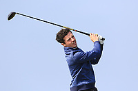 Rory Williamson (Holywood) on the 1st tee during Round 3 of The West of Ireland Open Championship in Co. Sligo Golf Club, Rosses Point, Sligo on Saturday 6th April 2019.<br /> Picture:  Thos Caffrey / www.golffile.ie