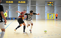 Action from the 2017 Futsal National League round one match between the Canterbury United Futsal Dragons and Northern Futsal Federation at the ASB Sports Centre in Wellington, New Zealand on Saturday, 25 November 2017. Photo: Dave Lintott / lintottphoto.co.nz