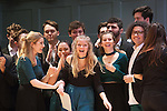 Rachel Dungate of Northern Lights, reacts to being awarded a special award: Outstanding Vocalist, for 'Bird Set Free'. University of Durham's Northern Lights a cappella group won the quarterfinals of the 2017 ICCA UK competition. They will compete in the semifinals on 25th March in London. 19 Feb 2017 Queen's Hall, Edinburgh. © photograph by Tina Norris. No unauthorised use including web use. Contact Tina on 07775 593 830 info@tinanorris.co.uk