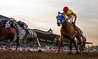 ARCADIA, CA - DECEMBER 30: Silent Bird #1 with Kent Desormeaux wins the Midnight Lute Stakes at Santa Anita Park on December 30, 2017 in Arcadia, California. (Photo by Alex Evers/Eclipse Sportswire/Getty Images)