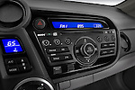 Stereo audio system close up detail view of a 2010 Honda Insight