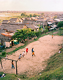 PERU, Belen, South America, Latin America, group of people playing football