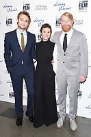 Douglas Booth, Helen McCrory &amp; director, Hugh Welchman at the London Film Festival 2017 screening of &quot;Loving Vincent&quot; at the National Gallery, Trafalgar Square, London, UK. <br /> 09 October  2017<br /> Picture: Steve Vas/Featureflash/SilverHub 0208 004 5359 sales@silverhubmedia.com