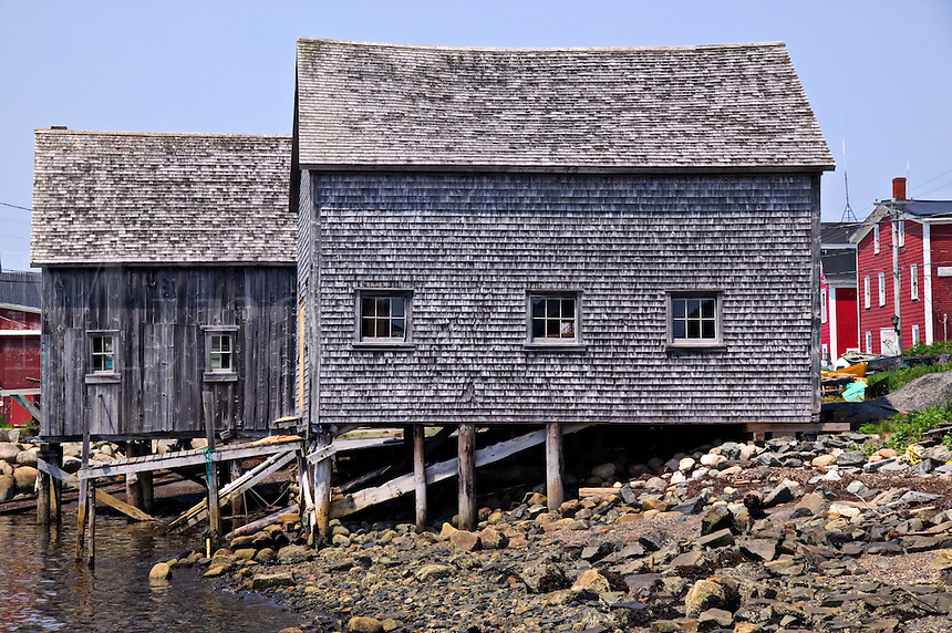 Old fishing shacks, Lunenburg,  Canad