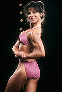 Atlantic City, April, 24, 1981. Contestant at the Women's World Bodybuilding Championships.