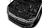 Car stock 2017 Volkswagen Amarok Aventura 4 Door Pick Up engine high angle detail view