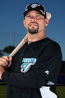 March 1, 2010:  Catcher Raul Chavez (13) of the Toronto Blue Jays poses for a photo during media day at Englebert Complex in Dunedin, FL.  Photo By Mike Janes/Four Seam Images