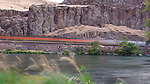 A slow shutter shot of one of the many train in the Lower Deschutes Canyon.