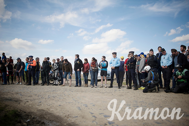crowd waiting for the riders in sector 6: Sysoing à Bourghelles (1.3km)<br /> <br /> 113th Paris-Roubaix 2015