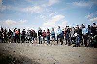 crowd waiting for the riders in sector 6: Sysoing &agrave; Bourghelles (1.3km)<br /> <br /> 113th Paris-Roubaix 2015