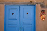 Blue Door, Ranchos de Taos, New Mexico.<br /> <br /> Canon EOS 5D, 24-105L lens