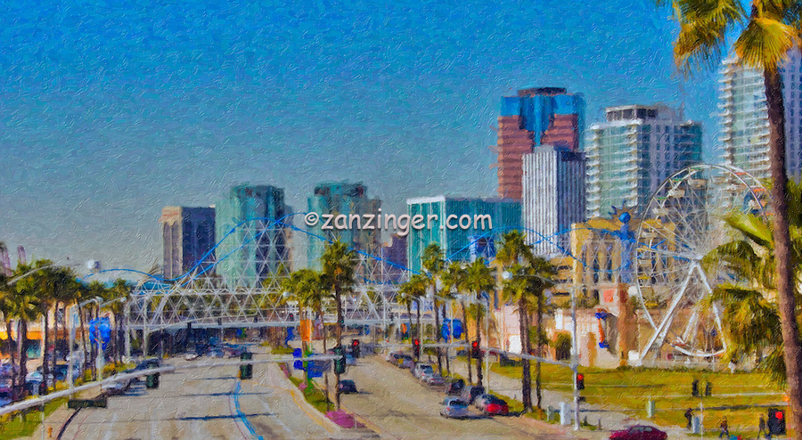 Long Beach City Skyline, Pike Ferris Wheel
