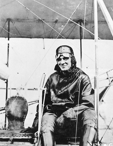 "Lieutenant Henry H. ""Hap"" Arnold in Wright B Airplane, College Park, Maryland, 1911.  Hap Arnold was one of the truly great men in American airpower.   Born on June 25, 1886, in Gladwyne, Pennsylvania, Henry ?Hap? Arnold graduated from West Point in 1907 and was commissioned in the infantry. In April 1911 he transferred to the aeronautical division of the Signal Corps. In June of that year he received his pilot's certificate after taking instruction from Orville Wright in Dayton, Ohio. For nearly a year he was an instructor at   the Army's first aviation school at College Park, Maryland.   He rose steadily in rank and responsibility throughout the 1920s and 30s and became the commanding general of the Army Air Forces (AAF) during World War II. On December 15, 1944, Arnold was promoted to the five star supergrade ""General of the Army."" General Arnold retired in February 1946.  General Arnold died on January 15, 1950..Credit: U.S. Air Force via CNP"