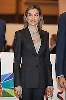 Queen Letizia of Spain attends tourism fair FITUR in Madrid, Spain. Month XX, 2015. (ALTERPHOTOS/Victor Blanco) /nortephoto.com<br /> nortephoto.com