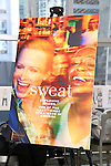 Poster for the photocall for the Broadway cast of 'Sweat'  at The New 42nd Street Studios on 2/16/2017 in New York City.
