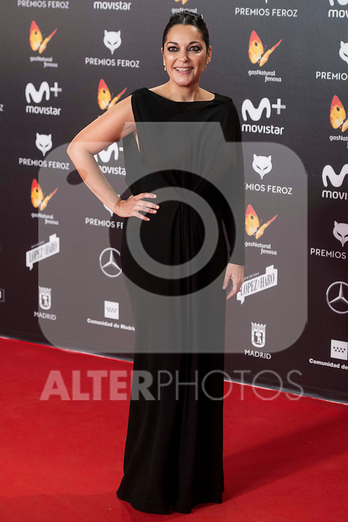 Cristina Plazas attends red carpet of Feroz Awards 2018 at Magarinos Complex in Madrid, Spain. January 22, 2018. (ALTERPHOTOS/Borja B.Hojas)