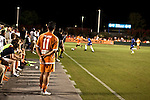 September 12, 2009. Cary, NC..The Carolina Railhawks took over the #2 spot in the league after a 2-1 victory over the Puerto Rico Islanders.. #11 Daniel Paladini stood on the sidelines at the ned of the game.