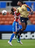 Hayley Brock (USA) heads the ball..FIFA U17 Women's World Cup, Paraguay v USA, Waikato Stadium, Hamilton, New Zealand, Sunday 2 November 2008. Photo: Renee McKay/PHOTOSPORT