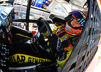 May 30, 2008; Dover, DE, USA; Nascar Sprint Cup Series driver Kyle Busch during practice for the Best Buy 400 at the Dover International Speedway. Mandatory Credit: Mark J. Rebilas-US PRESSWIRE