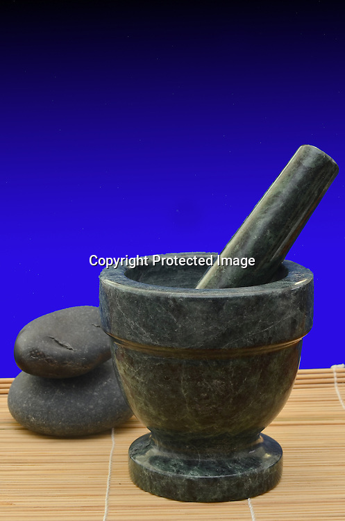 Stock photo of medicinal herbs preparation