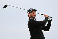 Scott Piercy (USA) on the 17th tee during Round 4 of the 2015 Alfred Dunhill Links Championship at the Old Course in St. Andrews in Scotland on 4/10/15.<br /> Picture: Thos Caffrey | Golffile