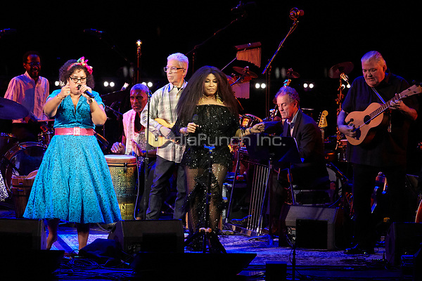 Los Angeles, CA - NOV 07:  La Marisoul, Chaka Khan, and David Hildago perform at 'Joni 75: A Birthday Celebration Live At The Dorothy Chandler Pavilion' on November 07 2018 in Los Angeles CA. Credit: CraSH/imageSPACE/MediaPunch