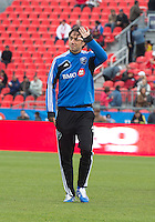 20 October 2012: Montreal Impact defender Alessandro Nesta #14 waves to the crowd during an MLS game between the Montreal Impact and Toronto FC at BMO Field in Toronto, Ontario..The game ended in a 0-0 draw..
