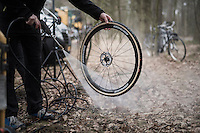 clean wheel <br /> <br /> Krawatencross Lille 2017