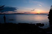 Sunset, Jones Island State Park, San Juan Islands, Washington, US