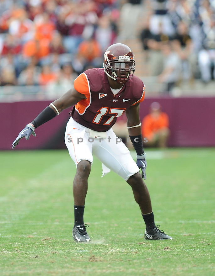 KAM CHANCELLOR, of the Virginia Tech Hokies in action during the Hokeys  game against the Boston College Eagles on October 10, 2009 in Blacksburg, VA. Virginia Tech won 48-14..