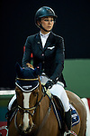 Jane Richard Philips of Switzerland riding Zekina Z at the the Massimo Dutti Trophy during the Longines Hong Kong Masters 2015 at the AsiaWorld Expo on 15 February 2015 in Hong Kong, China. Photo by Juan Flor / Power Sport Images