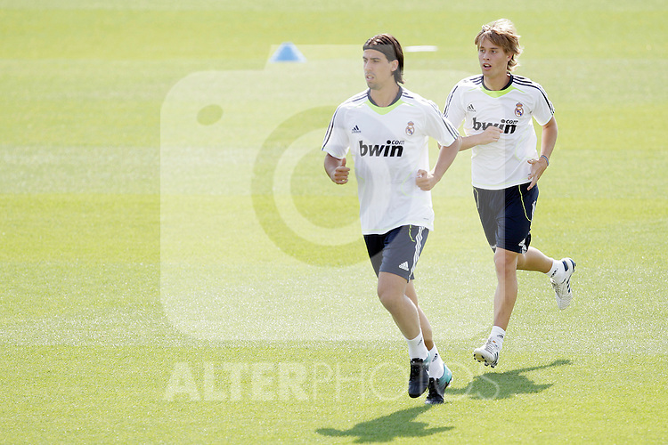 MADRID (11/08/2010).- Real Madrid training session at Valdebebas. Sami Khedira and Sergio Canales...Photo: Cesar Cebolla / ALFAQUI