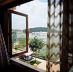 The Leela Palace Hotel in Udaipur took more then ten years to complete and many millions of rupees. It is located in Rajastan and has views of the Aravali mountains on the shores of Lake Pichola. There are 72 rooms and 8 suites. India is the second most populous country in the world. with over a 1 billion people.